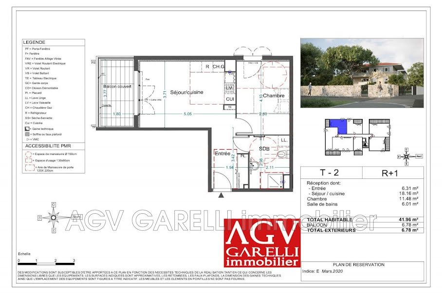 Vente appartement 2 pièces 41.96 m² à La Seyne-sur-Mer (83500), 204 000 €