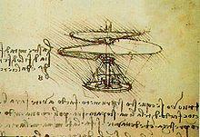 Vite aerea, progetto di Leonardo