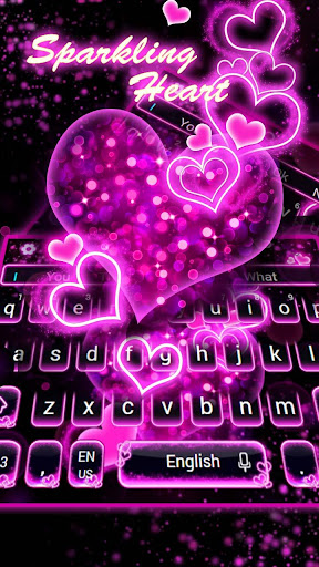 Sparkling Neon Pink Keyboard for PC