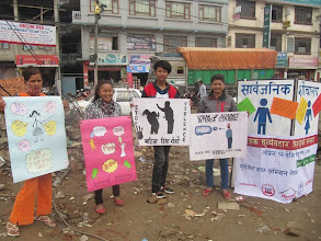 Photo: 4.16.15 Activista Nepal's protest for safe public toilets