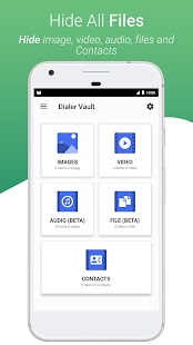 Dialer Vault - VaultDroid Hide Photo Video OS 10 Screenshot