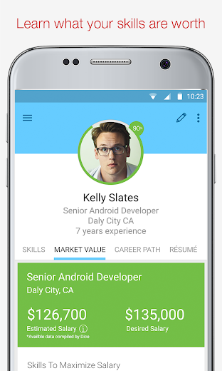 Screenshot 2 for Dice's Android app'