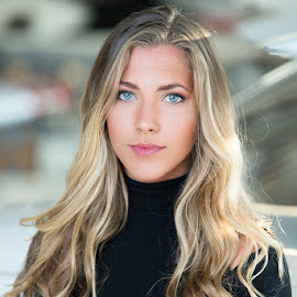 The girl that likes to fly by Lucian Badea - People Portraits of Women ( fly girl, beautiful woman, girl, woman, blonde girl, blue eyes, girls that fly, pretty aviator, beautiful girl,  )