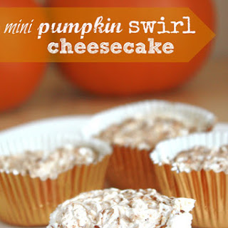 Mini Pumpkin Swirled Cheesecake