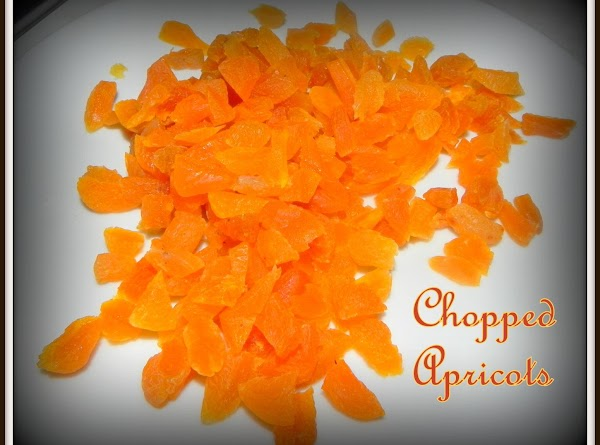 Cut up your dried apricots.