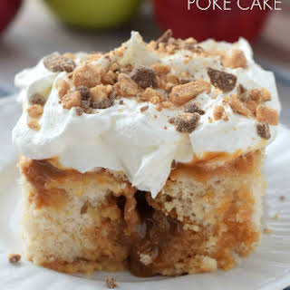 Caramel Apple Poke Cake.