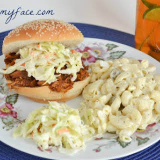 Easy Crock Pot Pulled Pork Sandwich.