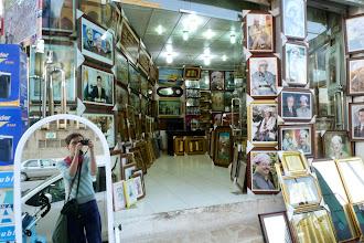 Photo: Self-portrait among portraits, Hawlêr (Erbil), South Kurdistan (Iraq), 2011