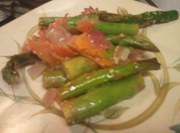 Colorful Asparagus Fry Recipe