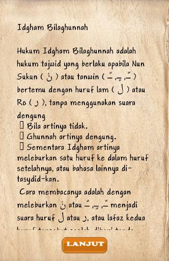 Game Tajwid Tebak Bacaan