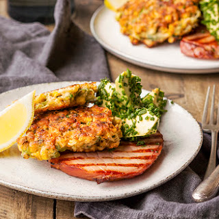 Corn Fritters with Hand‑Cut Ham and Avocado Recipe