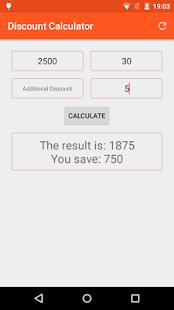 Discount Calculator screenshot
