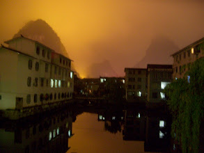 Photo: View from my room on a foggy night