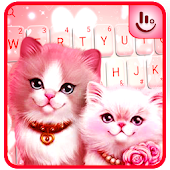 Lovely Cute Pink Kitty Cat Keyboard Theme