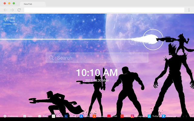 Star Lord Hot HD Marvel New Tabs Theme