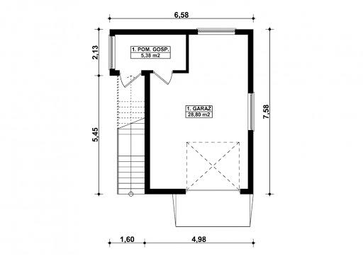 G352 - Budynek garażowo-gospodarczy - Rzut parteru