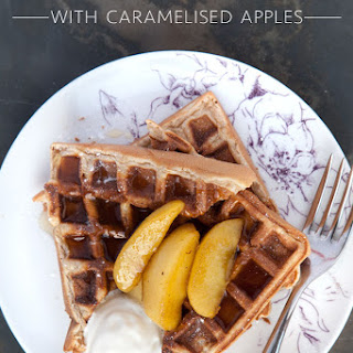 Cinnamon Waffles With Caramelised Apples