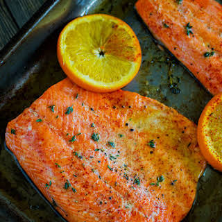 Orange Sesame Salmon.