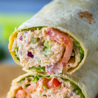 Spicy Sriracha Tuna Wraps.