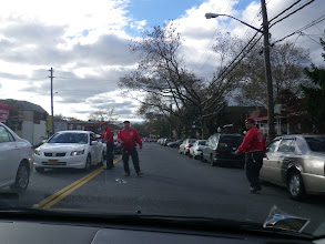 Photo: and the Guardian Angels are out & about (meanwhile, a block away, we caught a glimpse of a street brawl of some sort). Great work at the club today, but the city's still got a ways to go.