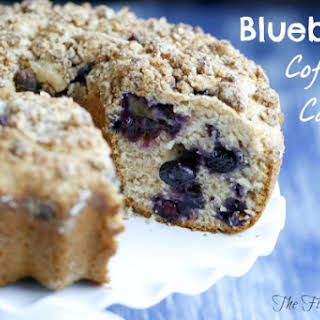 Blueberry Coffee Cake with Streusel Topping.