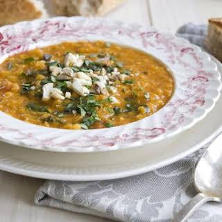 Red Lentil Vadouvan Coconut Soup.