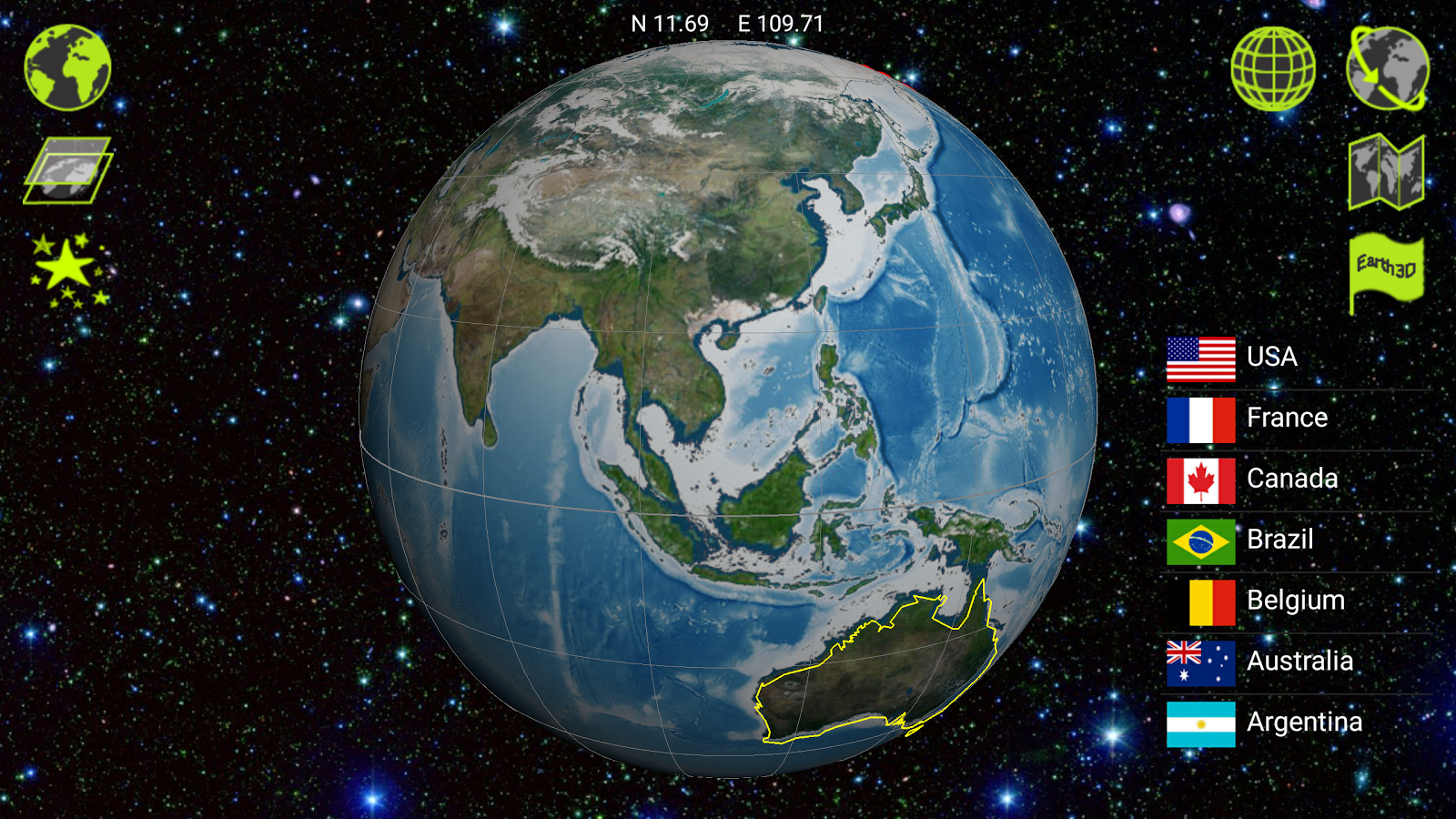 Earth 3D - screenshot