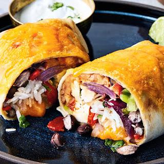Chicken & Cilantro Rice Burritos.