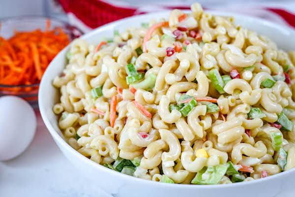 Jan's Macaroni Salad Ready To Serve.