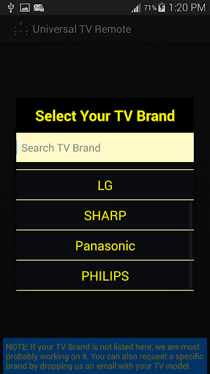4 Universal TV Remote Control App screenshot