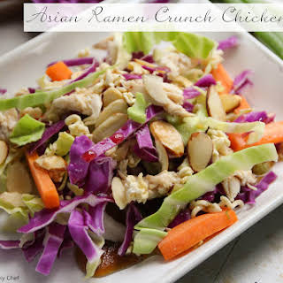 Asian Ramen Noodle Chicken Salad.