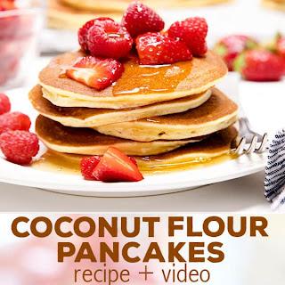 Fluffy Coconut Flour Pancakes.