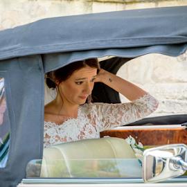 Reception please  by Graham Davey - Wedding Bride ( classic car, june, wedding, 2016, bride, groom )