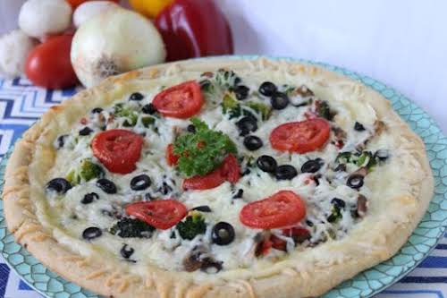 "Veggie Pizza ""This pizza is simple and full of flavor. The perfect..."