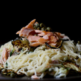 Smoked Salmon, Zucchini And Horseradish Pasta
