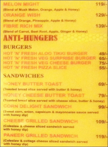 Honey Hut menu 3