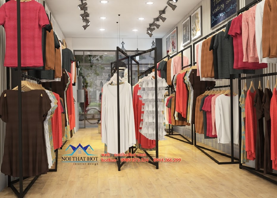 thiết kế shop thời trang đẹp