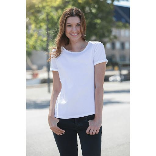 Neutral Organic Ladies  Roll Up Sleeve T-shirt