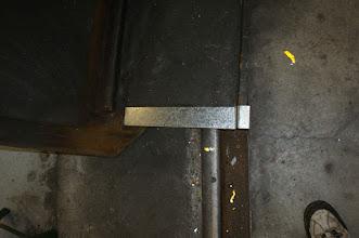 Photo: Reinforcing strips added by Charls on CBL body's bottom edge.  Photo by J. Loucks