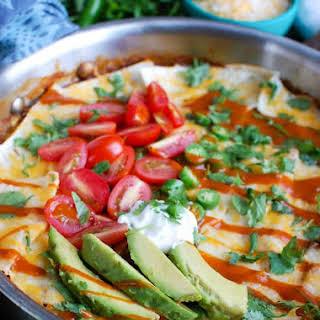 One Pot Beef Enchilada Casserole.