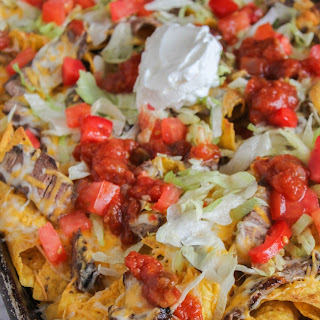Spicy Grilled Steak Nachos.