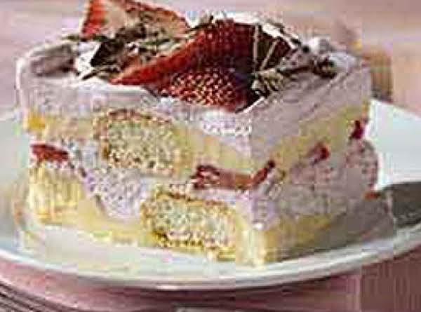 Mock Layered Strawberry Tiramisu Recipe