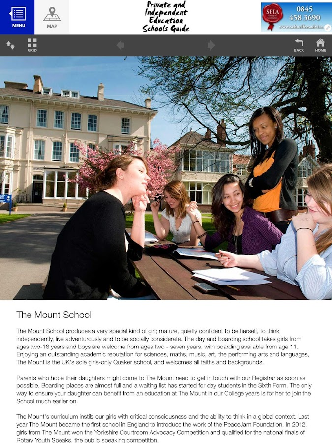 Independent Schools Guide- screenshot