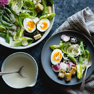 Spring Greens Salad with Miso-Buttermilk Dressing
