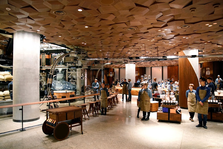 A view of the new Starbucks Reserve Roastery in Shanghai, China December 5, 2017.