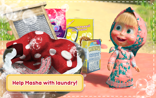 Masha and the Bear: House Cleaning Games for Girls  screenshots 9