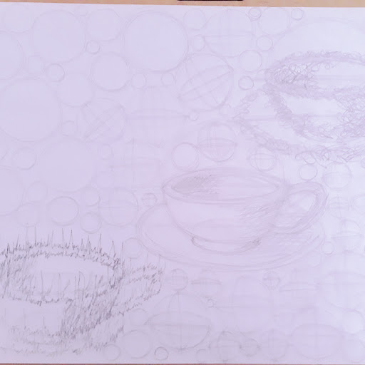 Picture of drawn teacups