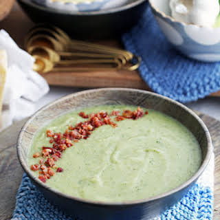 Instant Pot Potato Leek Soup with Spinach and Parmesan.
