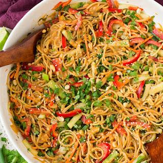 Spicy Thai Peanut Noodles.