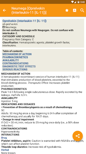 Mosby's Drug Reference for Health Professions 11.1.556 screenshots 1
